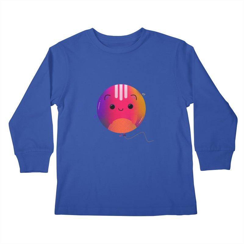 Cat Balloon Kids Longsleeve T-Shirt by the lady ernest ember's Artist Shop