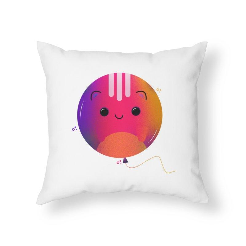 Cat Balloon Home Throw Pillow by theladyernestember's Artist Shop