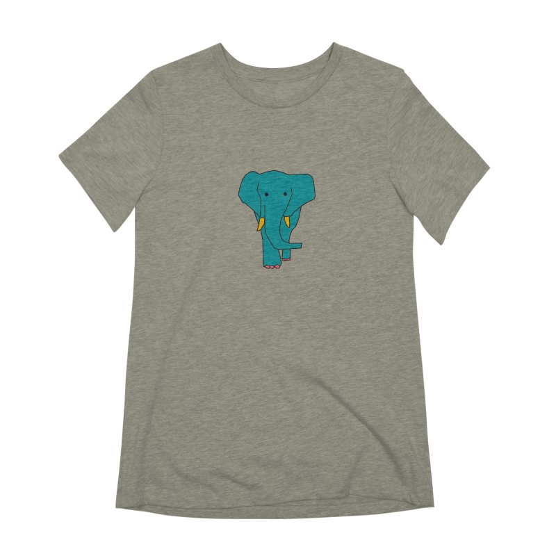 Elephant Women's Extra Soft T-Shirt by theladyernestember's Artist Shop