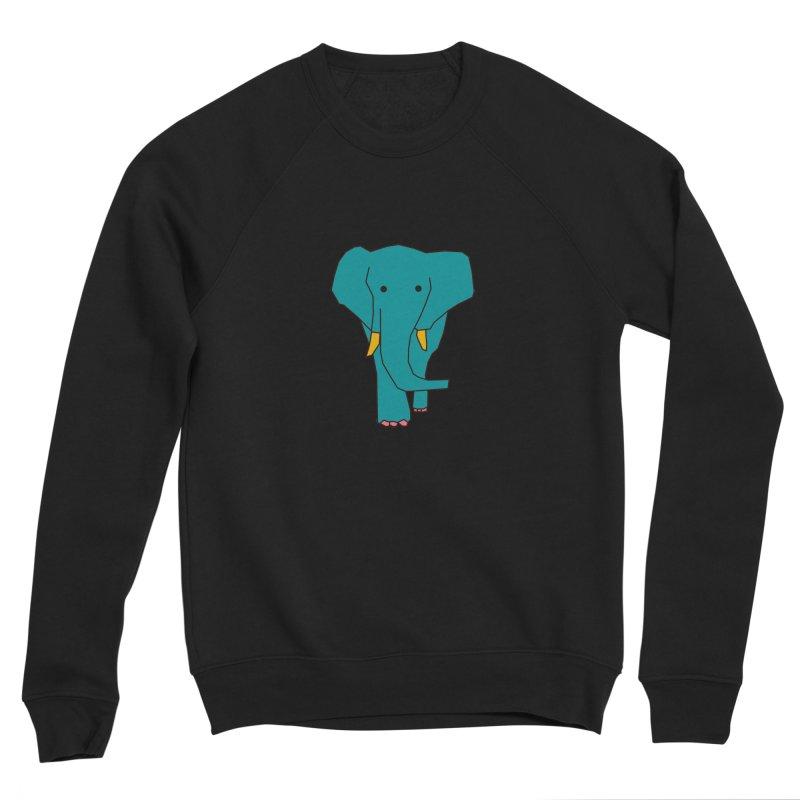 Elephant Men's Sponge Fleece Sweatshirt by the lady ernest ember's Artist Shop