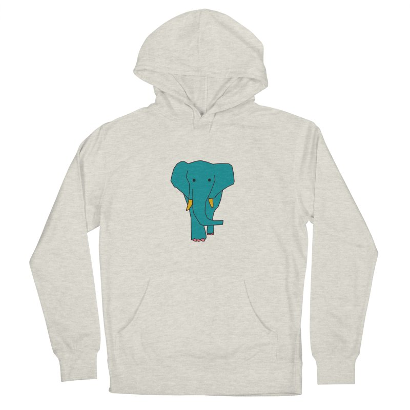 Elephant Women's French Terry Pullover Hoody by theladyernestember's Artist Shop