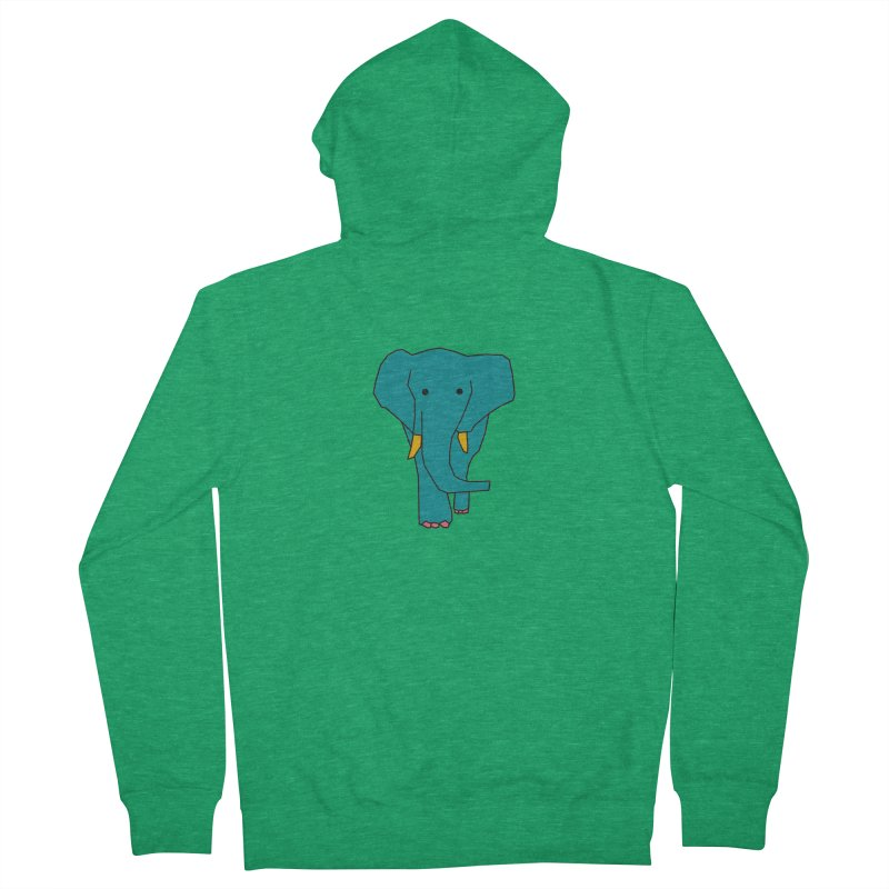 Elephant Men's Zip-Up Hoody by theladyernestember's Artist Shop