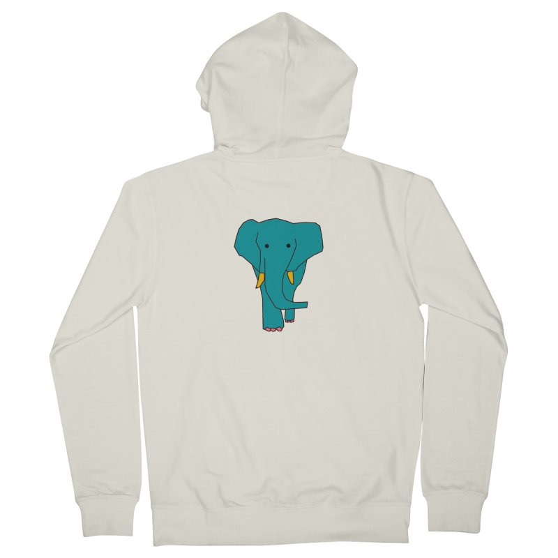 Elephant Men's French Terry Zip-Up Hoody by theladyernestember's Artist Shop