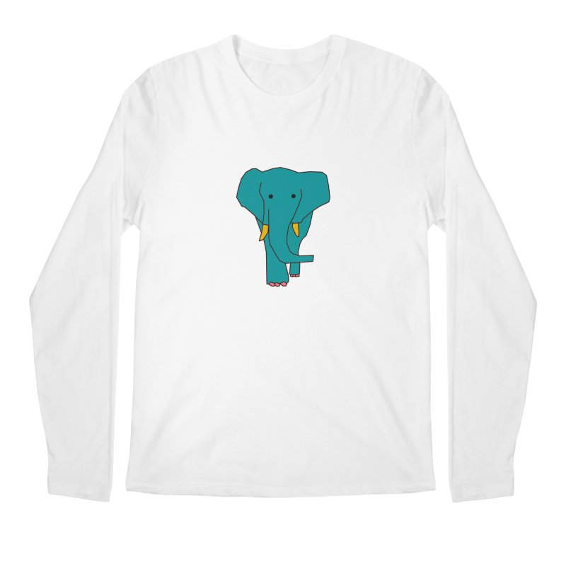 Elephant Men's Regular Longsleeve T-Shirt by theladyernestember's Artist Shop