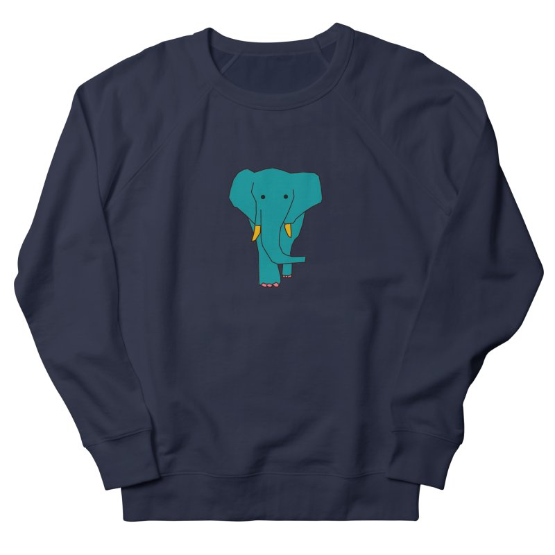 Elephant Women's French Terry Sweatshirt by the lady ernest ember's Artist Shop