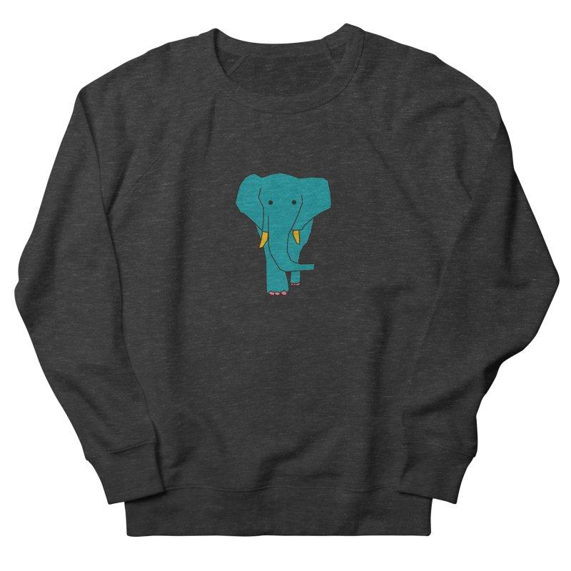 Elephant Men's French Terry Sweatshirt by theladyernestember's Artist Shop