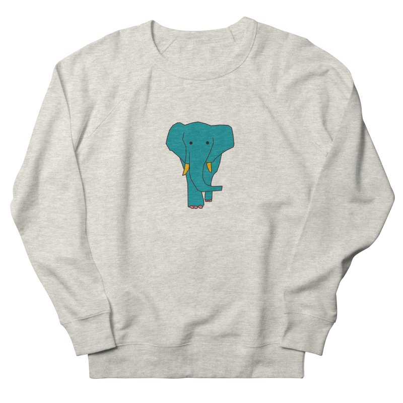 Elephant Men's French Terry Sweatshirt by theladyernestember's Artist Shop