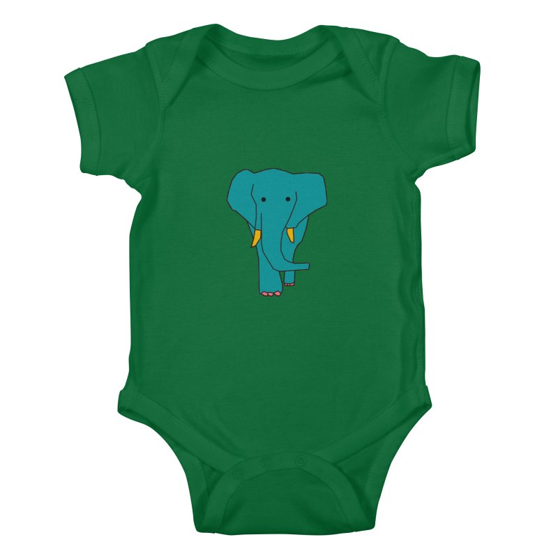 Elephant Kids Baby Bodysuit by the lady ernest ember's Artist Shop