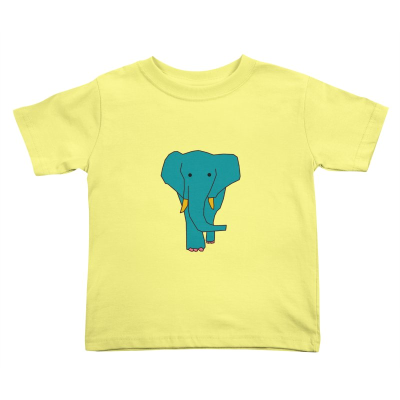 Elephant Kids Toddler T-Shirt by the lady ernest ember's Artist Shop