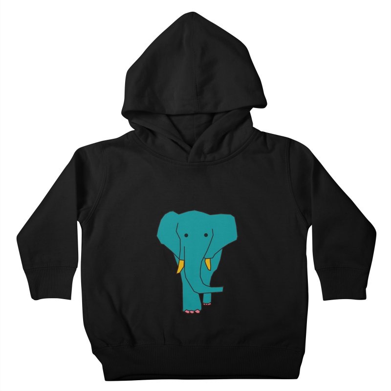 Elephant Kids Toddler Pullover Hoody by the lady ernest ember's Artist Shop
