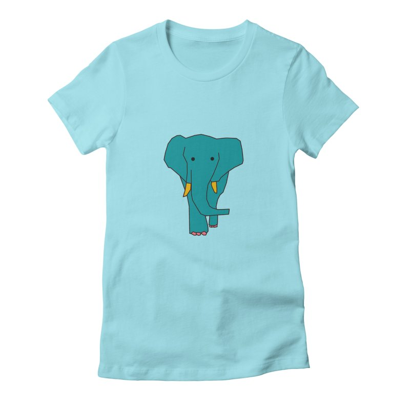 Elephant Women's Fitted T-Shirt by the lady ernest ember's Artist Shop