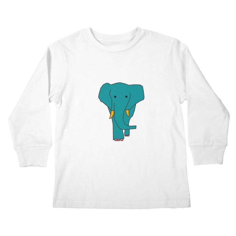 Elephant Kids Longsleeve T-Shirt by the lady ernest ember's Artist Shop