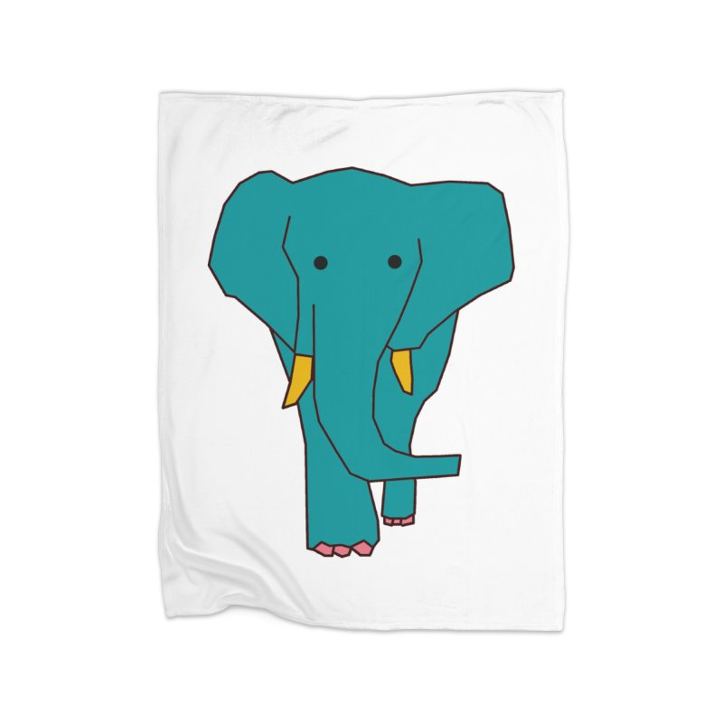 Elephant Home Blanket by theladyernestember's Artist Shop