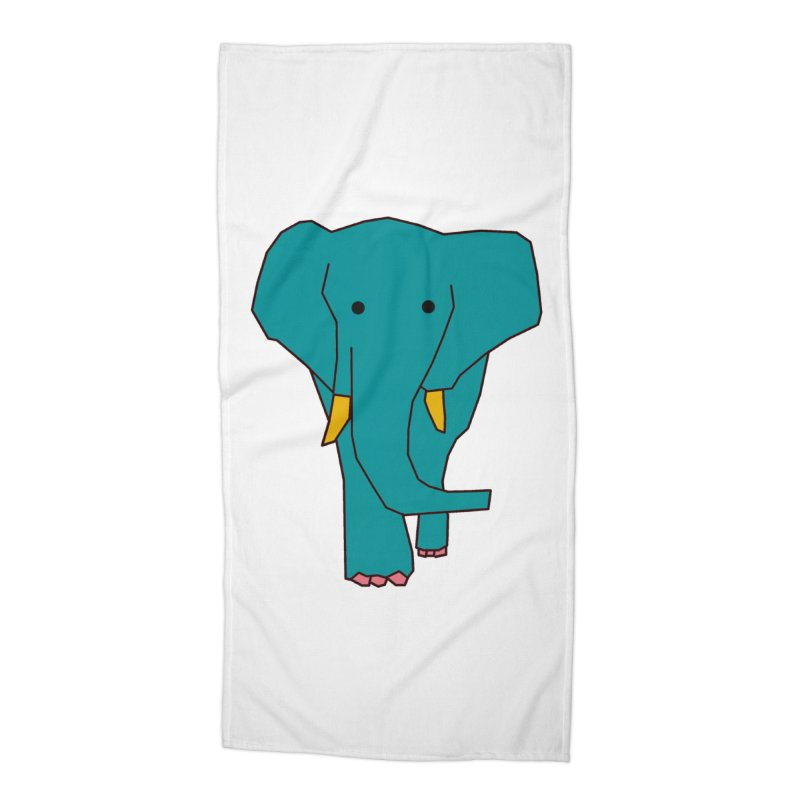Elephant Accessories Beach Towel by the lady ernest ember's Artist Shop