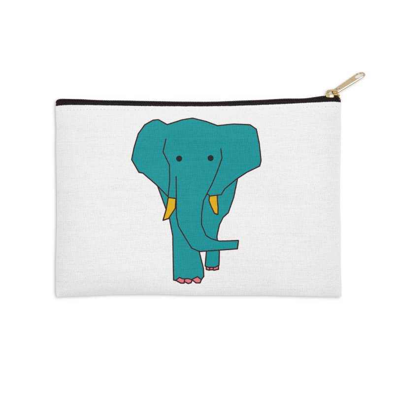 Elephant Accessories Zip Pouch by theladyernestember's Artist Shop