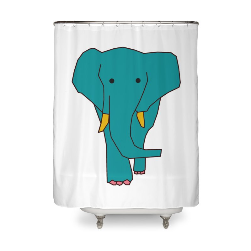 Elephant Home Shower Curtain by the lady ernest ember's Artist Shop