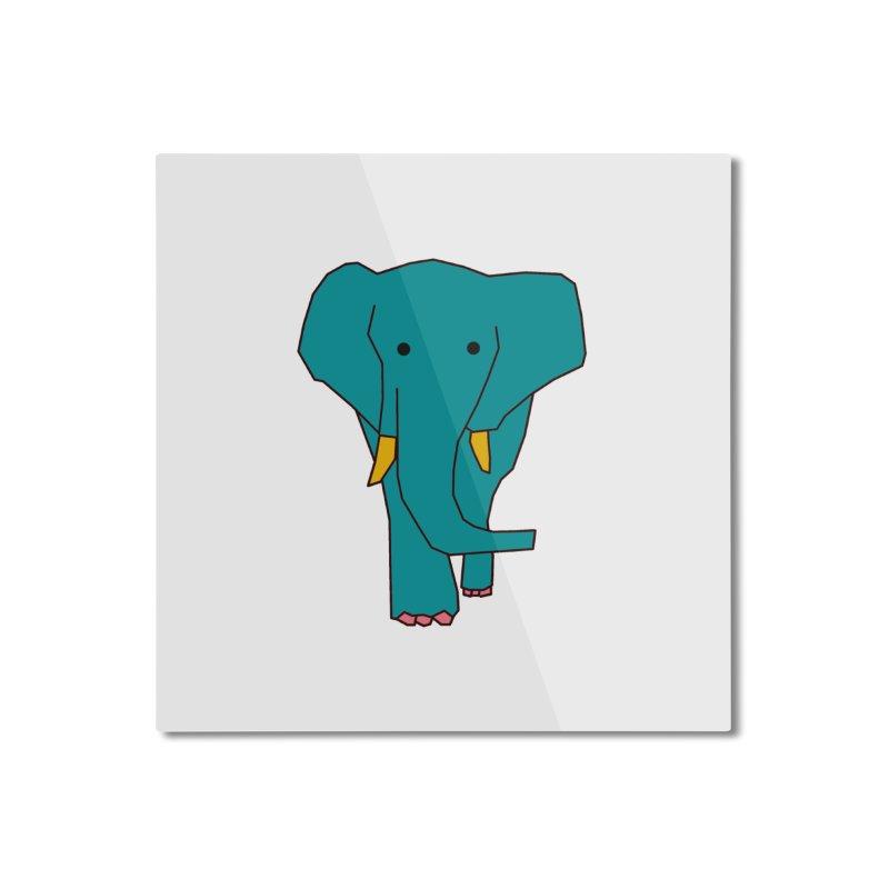 Elephant Home Mounted Aluminum Print by theladyernestember's Artist Shop