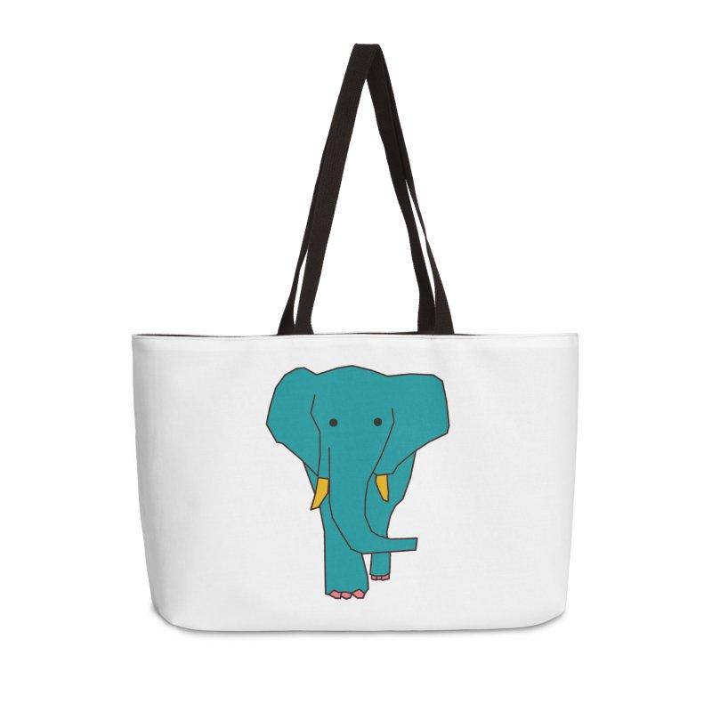 Elephant Accessories Weekender Bag Bag by theladyernestember's Artist Shop