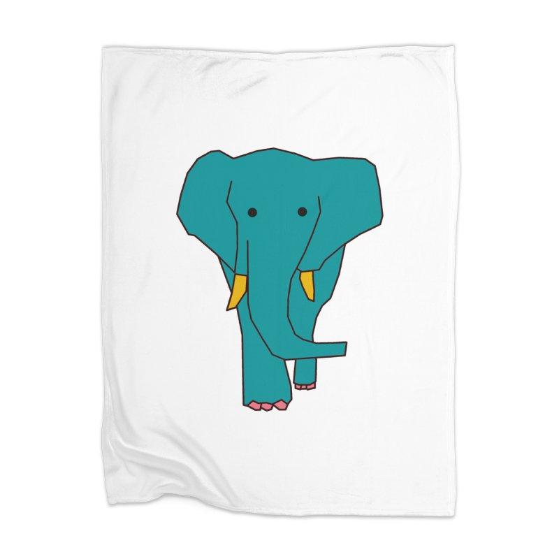 Elephant Home Blanket by theladyernestember's Artist Shop