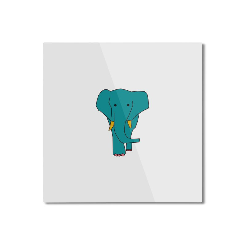 Elephant Home Mounted Aluminum Print by theladyernestember's Artist Shop