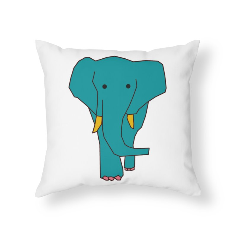 Elephant Home Throw Pillow by theladyernestember's Artist Shop