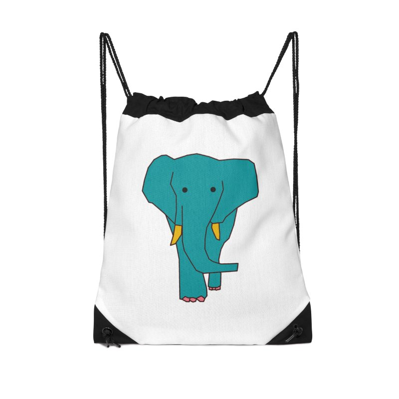 Elephant Accessories Drawstring Bag Bag by theladyernestember's Artist Shop