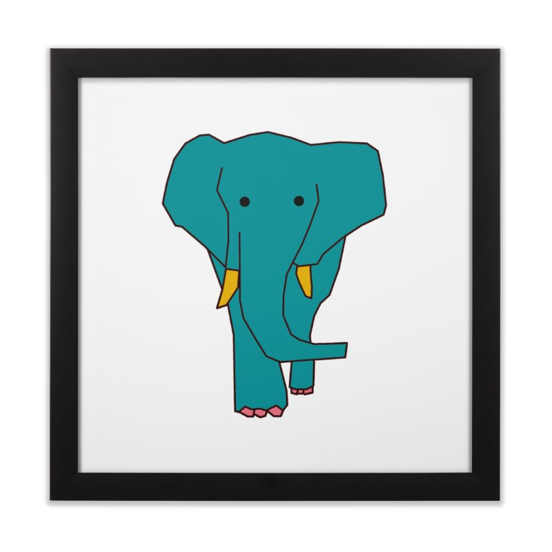 Elephant Home Framed Fine Art Print by theladyernestember's Artist Shop
