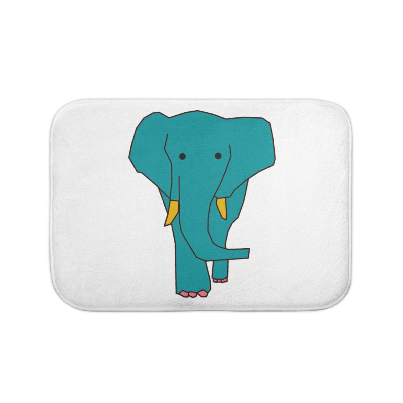 Elephant Home Bath Mat by theladyernestember's Artist Shop