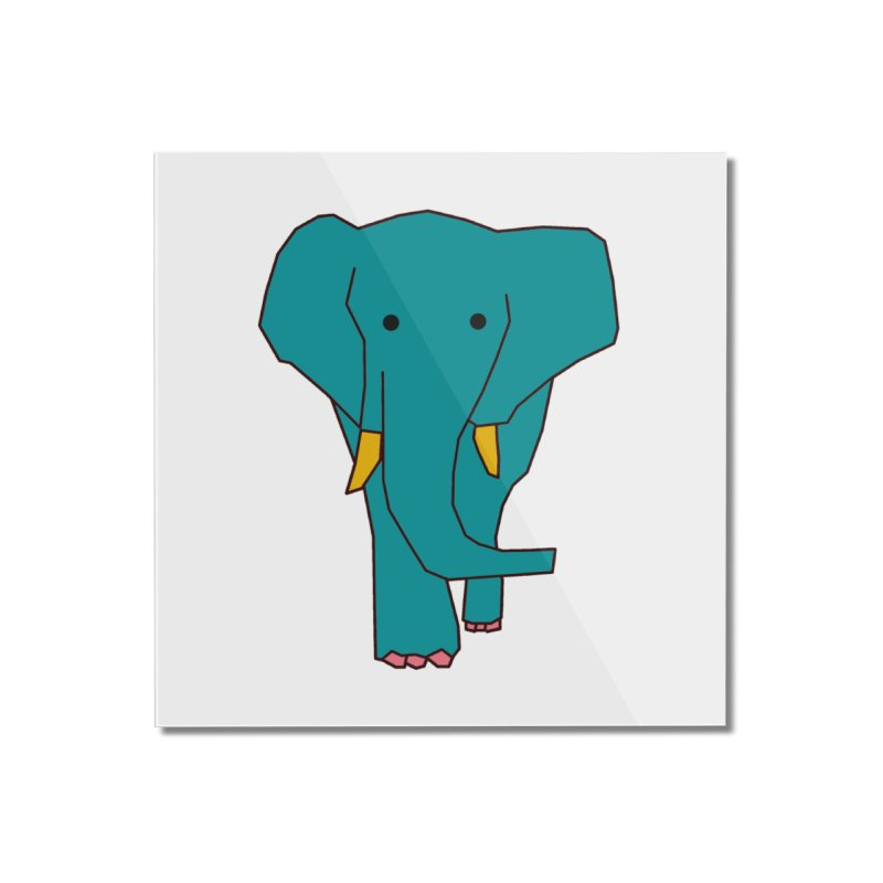 Elephant Home Mounted Acrylic Print by theladyernestember's Artist Shop