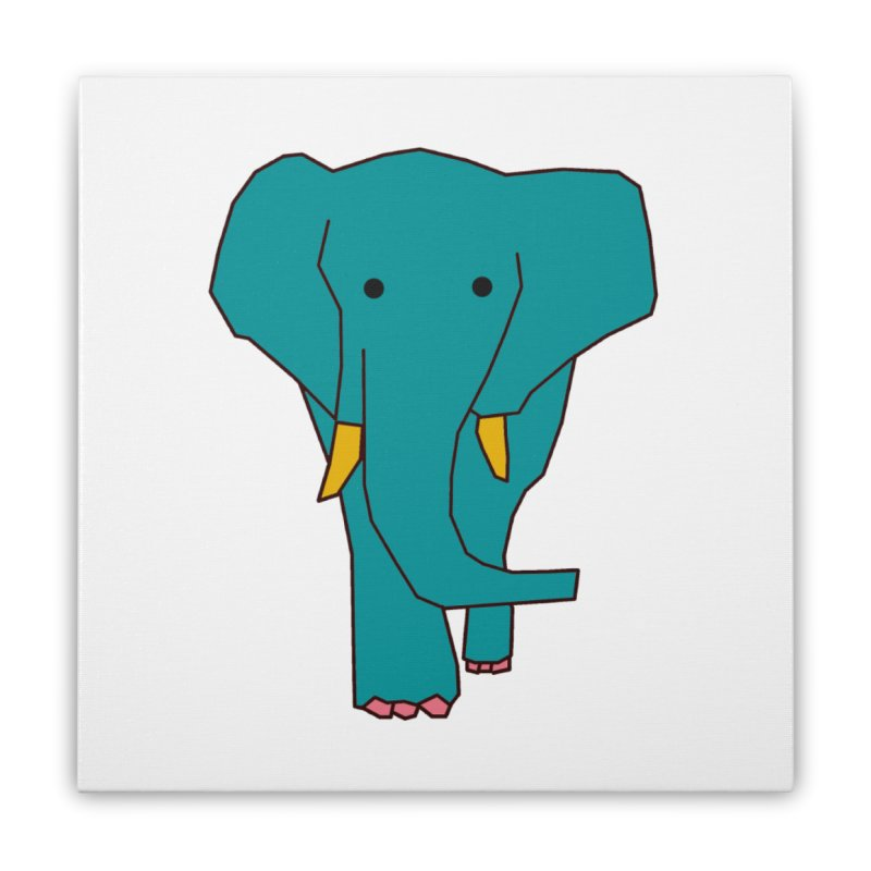 Elephant Home Stretched Canvas by theladyernestember's Artist Shop