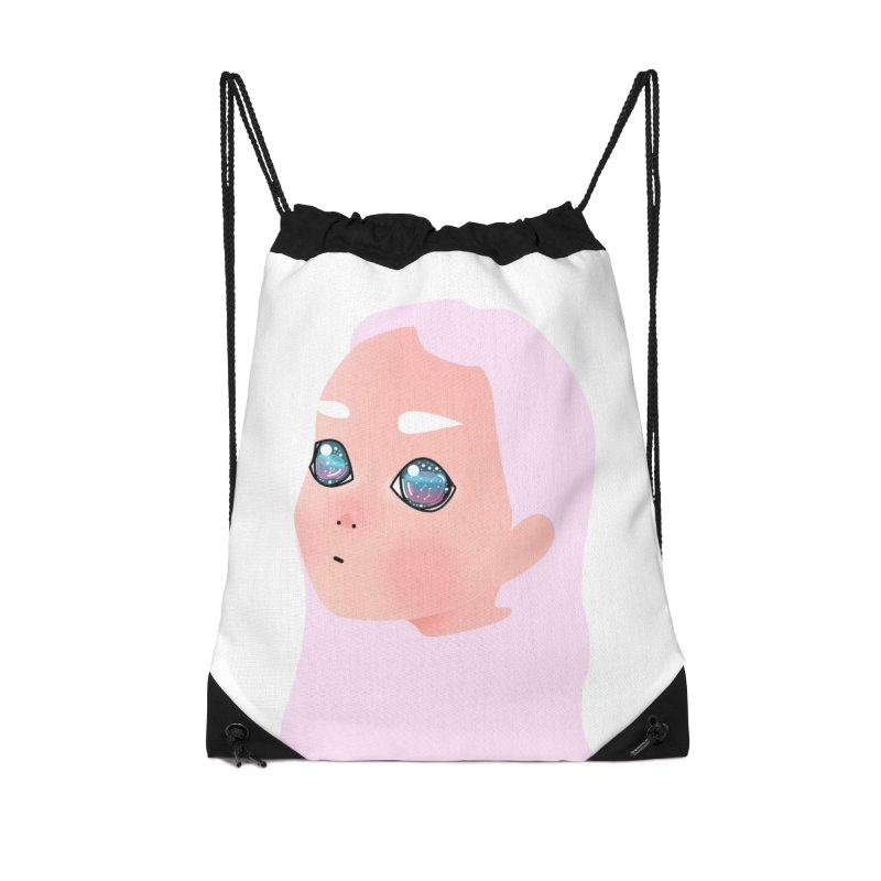 Lady Accessories Drawstring Bag Bag by theladyernestember's Artist Shop