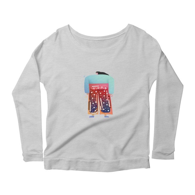 Lady Women's Scoop Neck Longsleeve T-Shirt by theladyernestember's Artist Shop