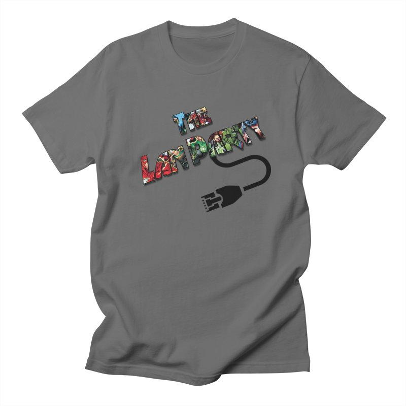 Super hero logo Men's T-Shirt by The Lan Party Talk Show