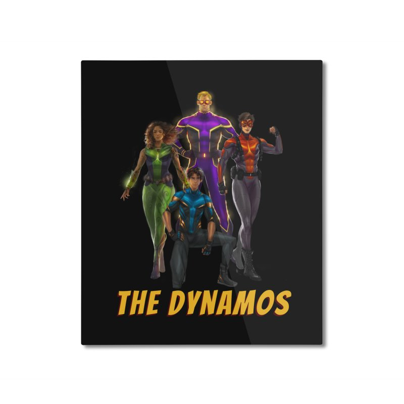 The Dynamos Home Mounted Aluminum Print by The Legends Casts's Shop