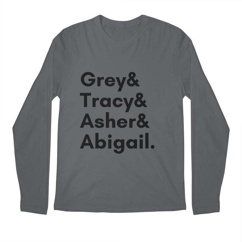 Secret Identities (Black) Men's Longsleeve T-Shirt by The Legends Casts's Shop