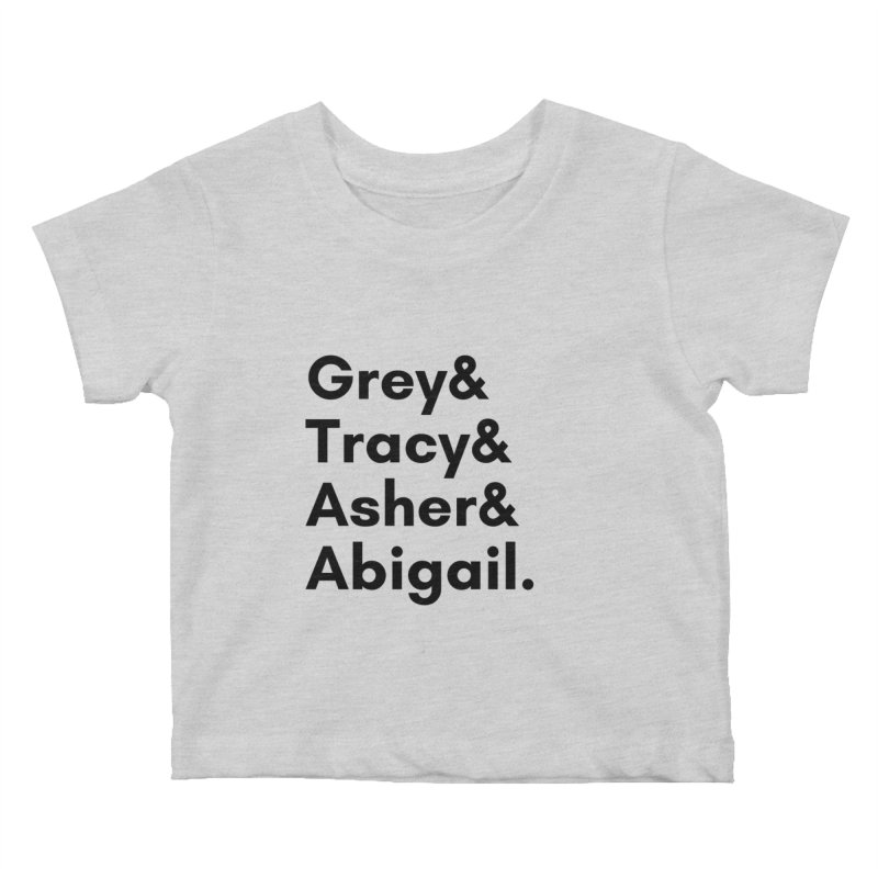 Secret Identities (Black) Kids Baby T-Shirt by The Legends Casts's Shop