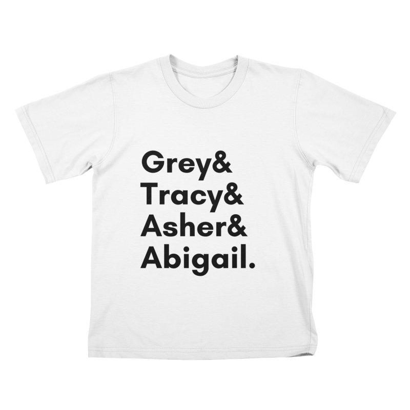 Secret Identities (Black) Kids T-Shirt by The Legends Casts's Shop