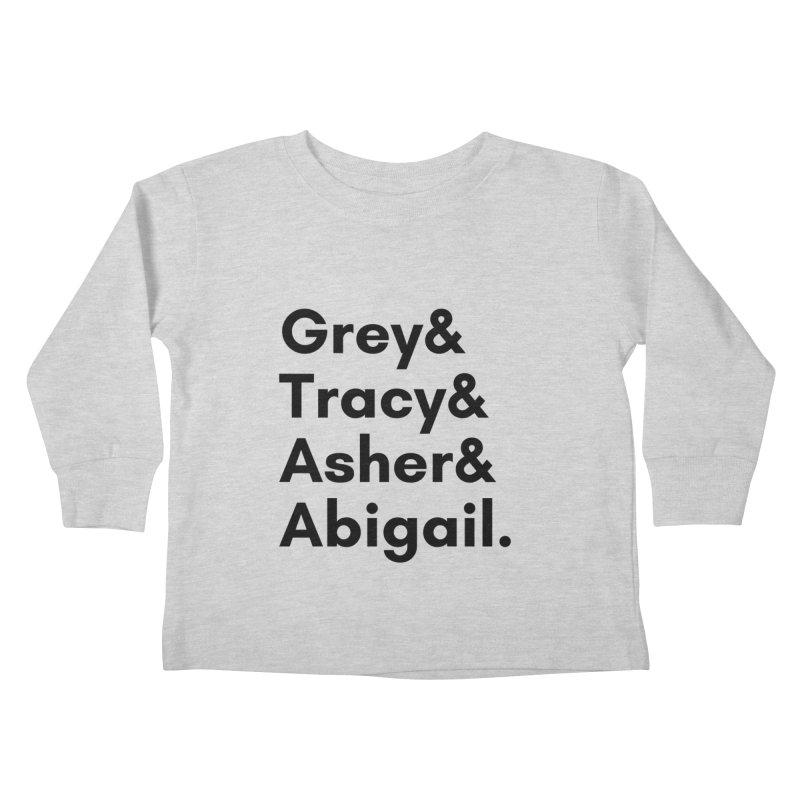 Secret Identities (Black) Kids Toddler Longsleeve T-Shirt by The Legends Casts's Shop
