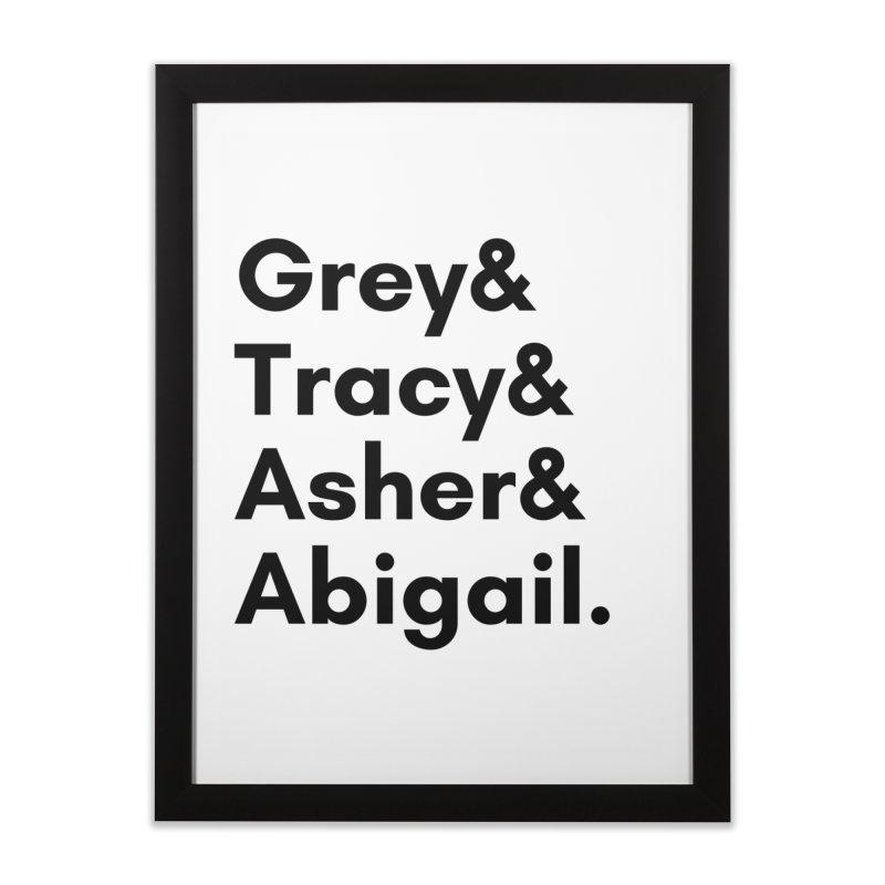 Secret Identities (Black) Home Framed Fine Art Print by The Legends Casts's Shop