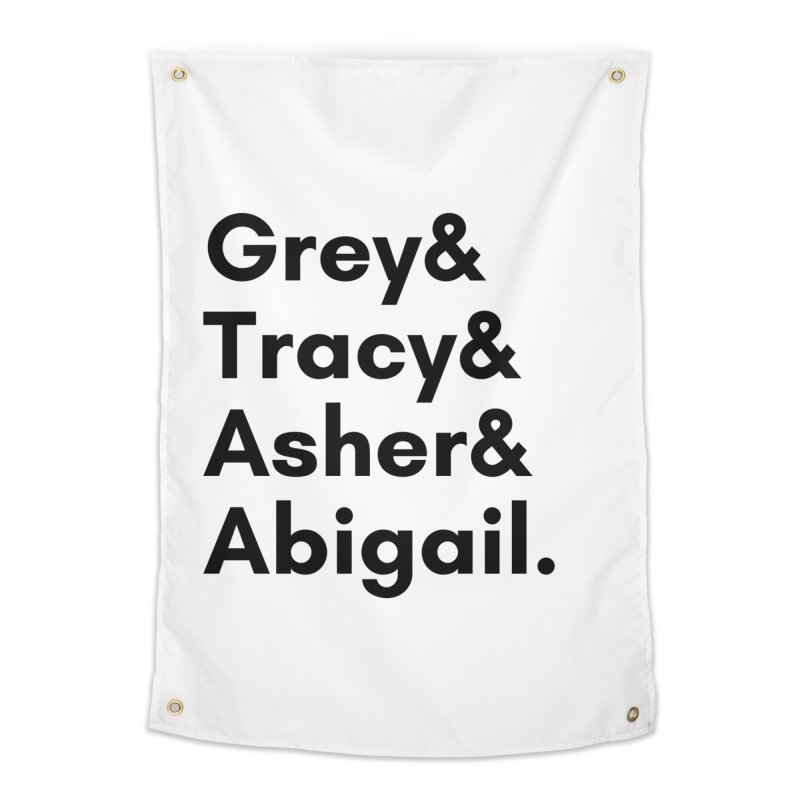 Secret Identities (Black) Home Tapestry by The Legends Casts's Shop