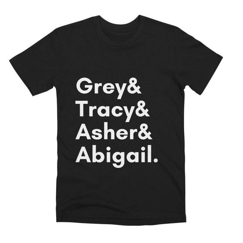 Secret Identities (White) Men's T-Shirt by The Legends Casts's Shop
