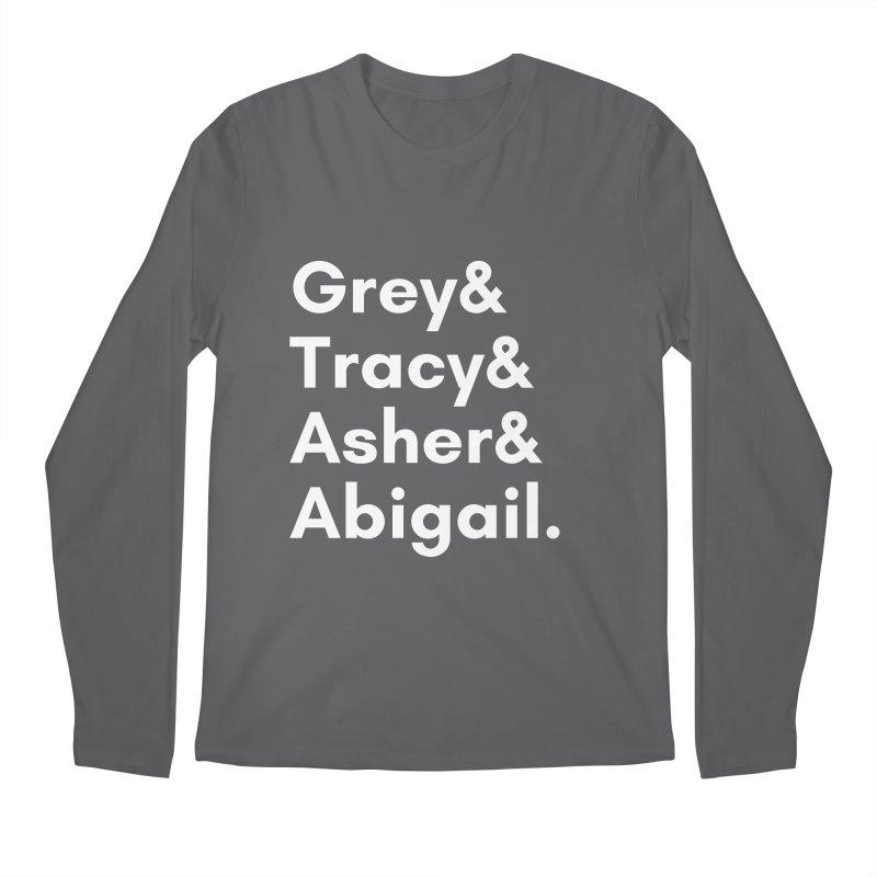 Secret Identities (White) Men's Longsleeve T-Shirt by The Legends Casts's Shop
