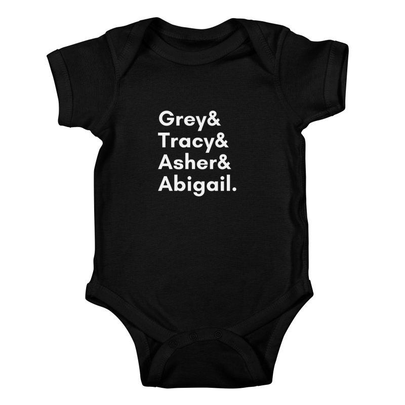 Secret Identities (White) Kids Baby Bodysuit by The Legends Casts's Shop