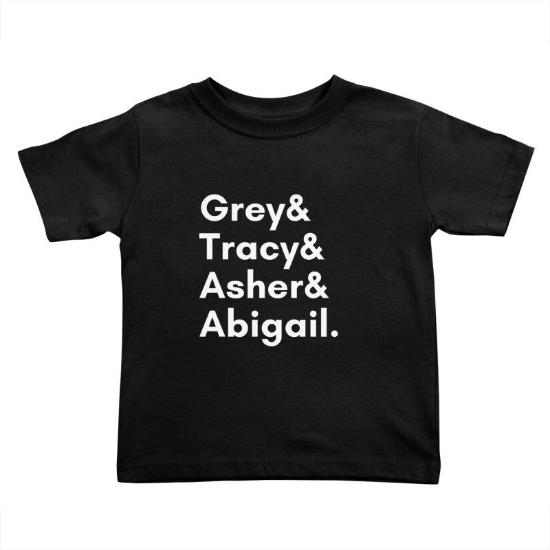 Secret Identities (White) Kids Toddler T-Shirt by The Legends Casts's Shop