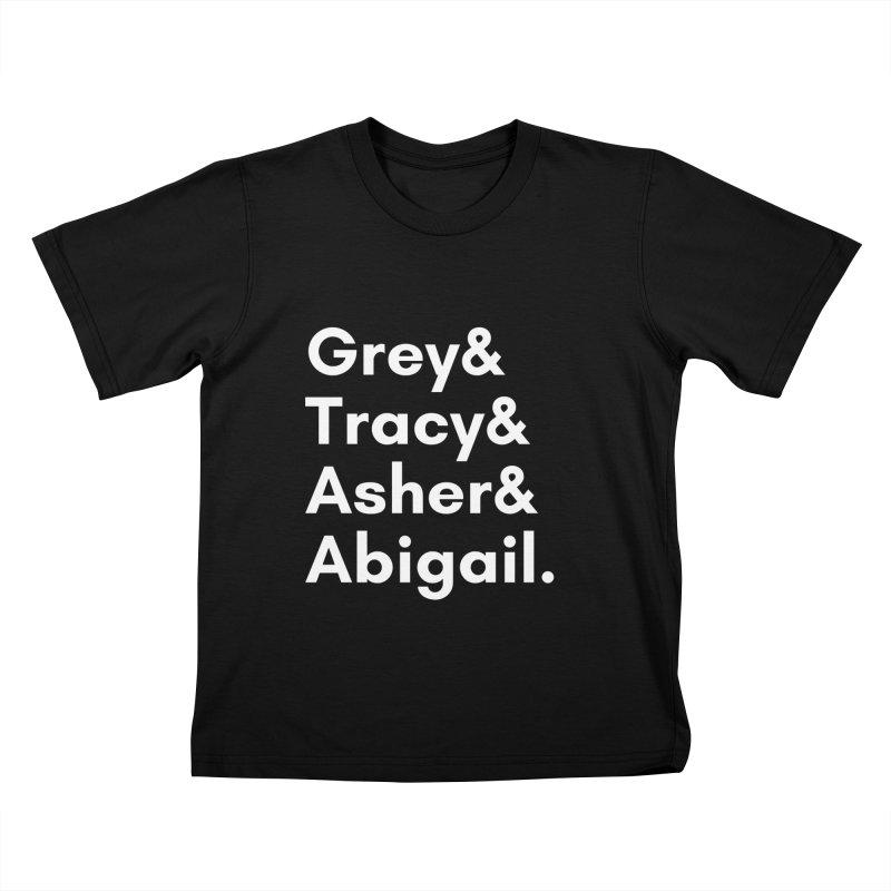 Secret Identities (White) Kids T-Shirt by The Legends Casts's Shop