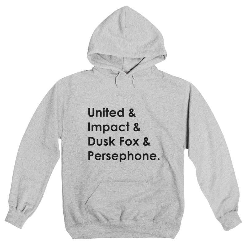 Hero Names (Black) Women's Pullover Hoody by The Legends Casts's Shop