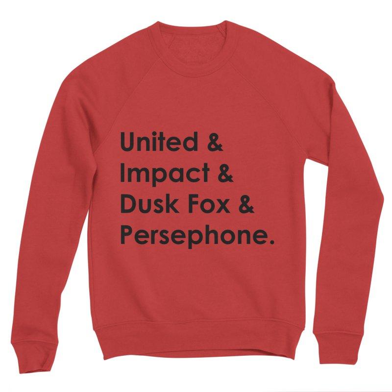 Hero Names (Black) Women's Sweatshirt by The Legends Casts's Shop