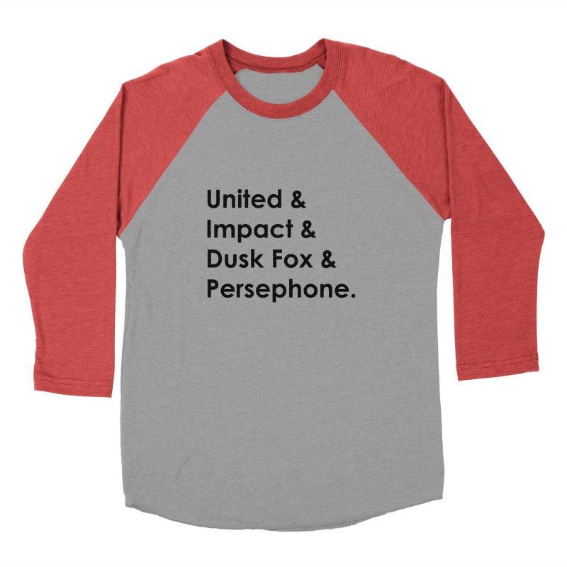 Hero Names (Black) Men's Longsleeve T-Shirt by The Legends Casts's Shop