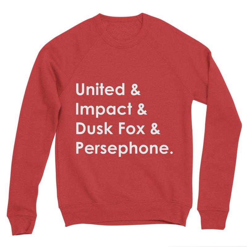 Hero Names (White) Women's Sweatshirt by The Legends Casts's Shop