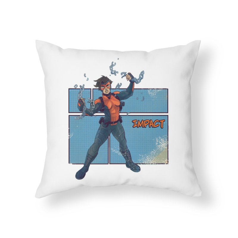 IMPACT Home Throw Pillow by The Legends Casts's Shop